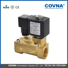 Válvula solenóide operada por piloto de diafragma de 2 vias, água, ar, óleo, água quente 2 polegadas de latão e válvula de solenóide de aço inoxidável 220V