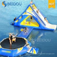 Adulto Popular Durable gigante inflable piscina flotante tobogán de agua