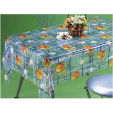 Nouvelle conception Imprimé Patterns PVC Transparent Nappe Usine (TJ0098)
