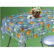 Novo design impresso padrões pvc transparente toalha de mesa de fábrica (tj0098)