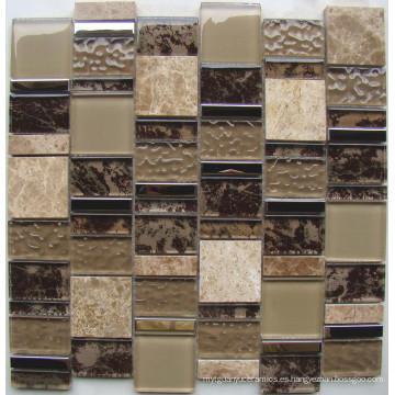 Nuevo mosaico de pared de mosaico de vidrio de patrón, mosaico de cristal (HGM372)