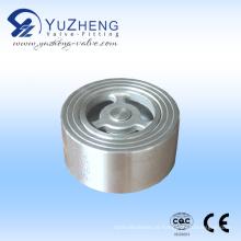 Válvula de retenção Wafer Pn16 H71 de aço inoxidável