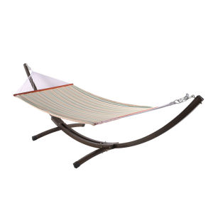 Steel hammock bed  with sapce-saving stand