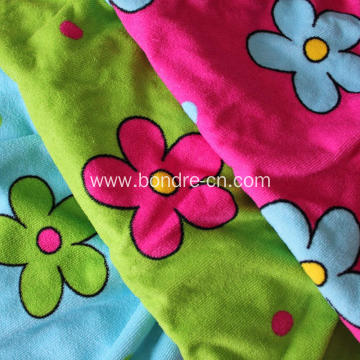 Floral Dotts Printed Microfiber Bath Beach Towel