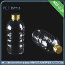 Botella de plástico PET cilíndrica botella de agua mineral