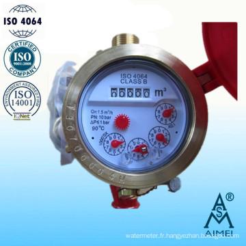 Compteur d'eau chaude de Type laiton à sec Multi Jet