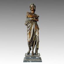 Figura clásica estatua filósofo escultura de bronce, Milo TPE-001