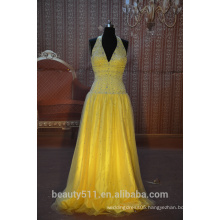IN STOCK Halter v-neck party dress women's floor-length prom dress SE10