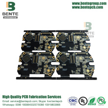 Customized for High Tg FR4 PCB Black Ink 6 Layers IT180 High TG PCB ENIG Thick Gold BGA export to Spain Importers