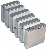 Bloco magnético NdFeB permanente industrial com revestimento de níquel