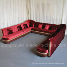 Upgrade U Shape KTV Booth Sofa with Red Velvet (SP-KS328)