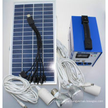 Solar Power System Panel, Battery Charger, LED Lights, Inverter