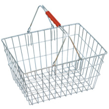 Best-seller transportar compras cesta fio comercial cesta metal cesta de compra