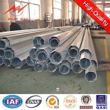5mm Thickness Octagonal 20m Galvanized Electric Steel Pole