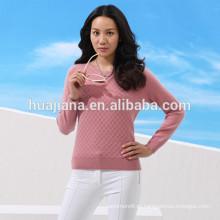 100% кашемир женщины crewneck свитер 12ГГ