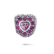 Hear CZ Charms 925 Bijoux en argent sterling