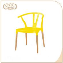 jardin d'intérieur extérieur bon marché toute la couleur disponible dinant la chaise en plastique de polypropylène de pp