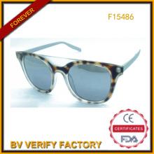 Comercial garantía último nuevo plástico gafas de sol en verano (F15486)