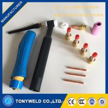 Kit de lentille de gaz de torche de soudage tig pour wp17 / wp18 / wp26