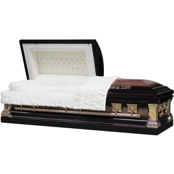 Jeff Bronze Stainless Steel Brushed Casket