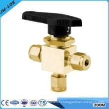 SS /brass double ferrule tube fitting instrument ball valve