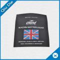 Grande etiqueta da bandeira do cetim de Britan para sacos