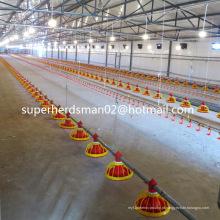 Equipamento automático de galpão de aves para frangos comerciais
