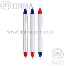 The Promotion Gifts Plastic Two Ends  Ball Pen Jm-1014