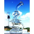 Top Selling 15 Inch 5mm Thickness Bigger Handblown Glass Smoking Water Pipe