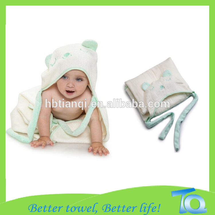 Cute Rabbit Cartoon Animal Hooded Baby Bath Towel