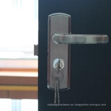 Seguridad sólida del bloqueo de la puerta deslizante del acero inoxidable para Hotal