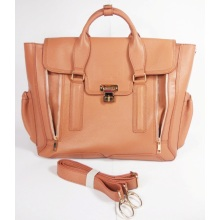 Guangzhou Wholesale Leather Women Business Hand Bag (213)