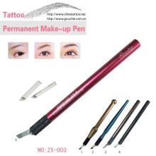 Pluma manual del tatuaje para el tatuaje cosmético del bordado de la ceja 3D