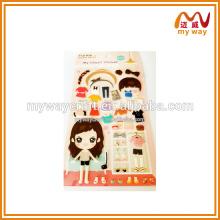 Adesivos inchados únicos da fábrica de adesivos de desenhos animados para crianças