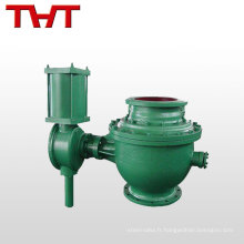Top fournisseur DN200 ~ 400 vanne semi-sphérique excentrique pour l'équipement de gaz de la poussière
