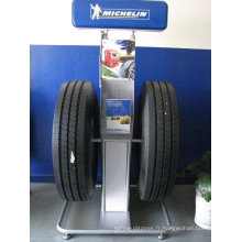 Présentoir de métal personnalisé pour mobile, présentoir de pneu commercial pour pneus de voiture