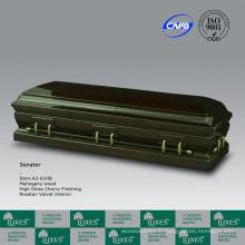 Cercueil en bois acajou de la RFA.