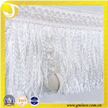 Китай Поставщик Женщины Платье Ткань Костюм Красный Сексуальная Белая Кисточка Trim
