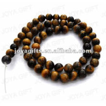7MM Round Shaped tigereye stone beads