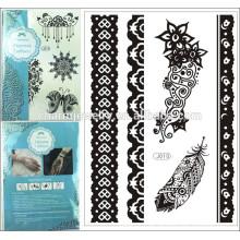 Mode Designs Strand Muster Metallic Temporäre Tattoo Aufkleber Wasserdichte Tatoo Aufkleber auf dem Körper j010