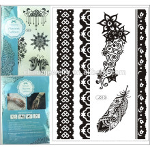 Fashion Designs Beach Patterns Metallic Temporary Tattoo Sticker Waterproof Tatoo Stickers on The Body j010