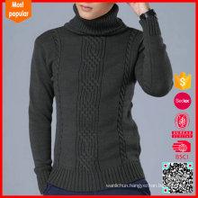 men's turtleneck pullover wool sweater