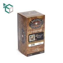 Embalaje de café biodegradable Papel de caja agradable con mango