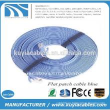 NUEVO Cable PREMIUM Cat6 macho a macho RJ45 cable plano LAN Ethernet 15M