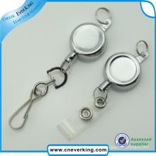 Bobine de badge en plastique de forme ronde d'excellente qualité avec sangle en PVC