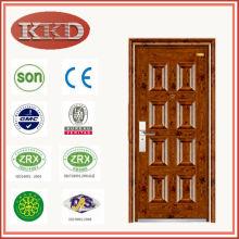 Porte en métal extérieur commercial KKJ-311 pour sécurité résidentielle