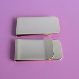 custom blank gold metal paper/file/ money clips wholesale