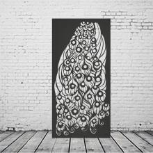 Panneau de clôture en métal décoratif