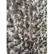 Hot Fashion Nuevo diseño de satén de láser 3D flores piezas de tejido de bordado