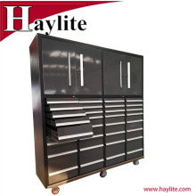 Cajas de herramientas de carretilla del cajón de metal recubierto de polvo utilizados gabinetes y cofre
